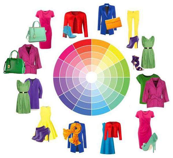 Цветовой круг поможет правильно скомбинировать образ для любого случая.