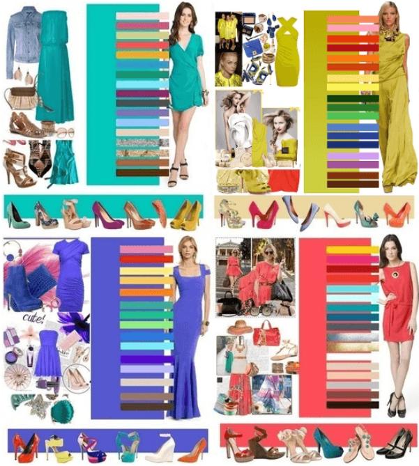 Простые схемы цветовой сочетаемости позволят легко комбинировать все предметы вашего гардероба.