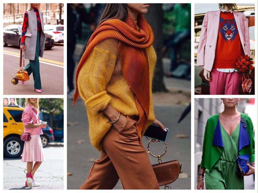 Умение сочетать разные оттенки между собой сделает гардероб значительно богаче и ярче.