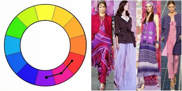 Идеи цветовых сочетаний по принципу аналоговой триады.
