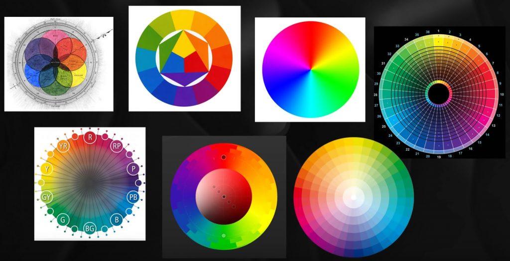 Существует множество вариантов цветовых кругов, однако не стоит пугаться, все они «работают» по схожим принципам.