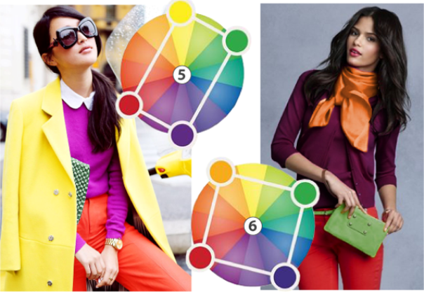 Цветовые круги помогают формировать удачные ансамбли одежды, сочетая яркие, смелые оттенки грамотно.