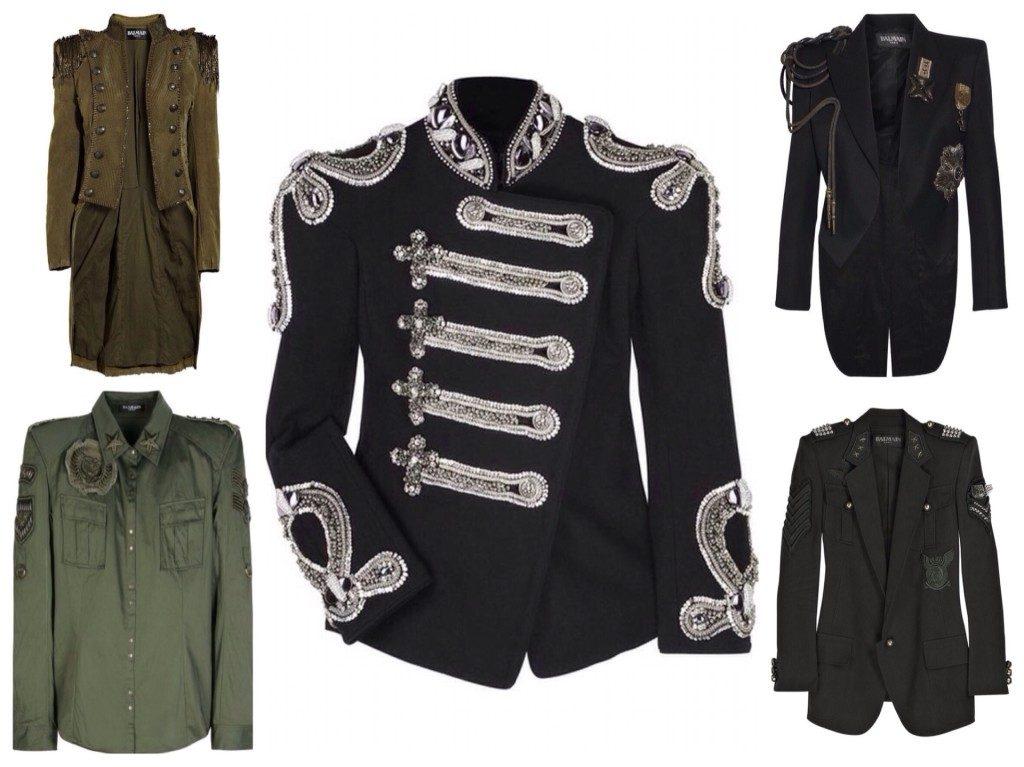 Жакет в стиле милитари – нетривиальный и креативный предмет женского гардероба