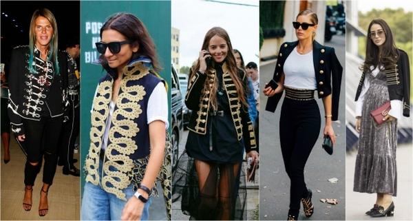 Пиджак милитари – предмет гардероба леди разных возрастов и комплекций