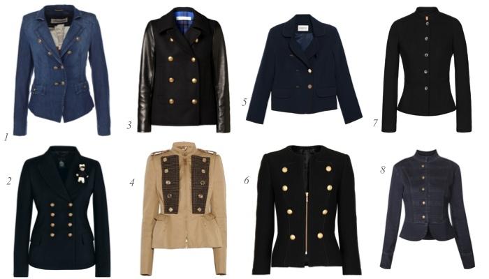 Разнообразие фасонов и моделей пиджаков в милитари стиле открывает большие возможности в создании модных образов