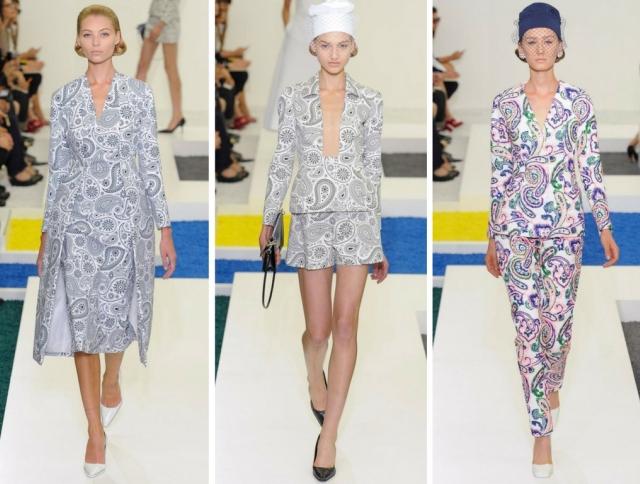 Узор пейсли присутствует в одежде практически всех коллекций итальянского бренда Etro