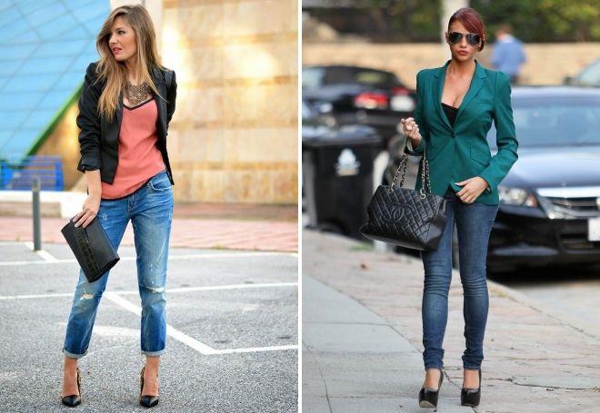 Облегающие скинни и свободные бойфренды - лучший выбор для микса с пиджаком