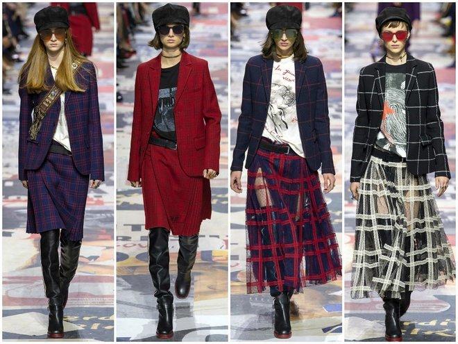 Модные дизайнеры предлагают различные варианты сочетаний пиджаков с юбками