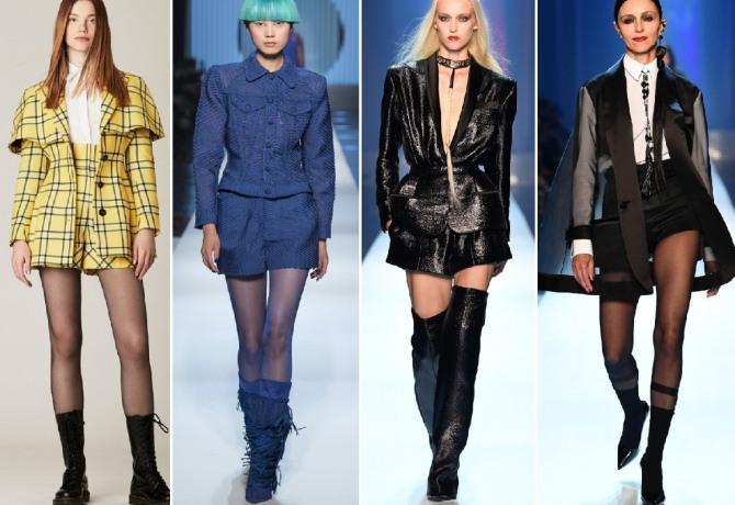 Трендовый выбор – шорты на высокой посадке, броская клетка и блестящие ткани для них и пиджаков