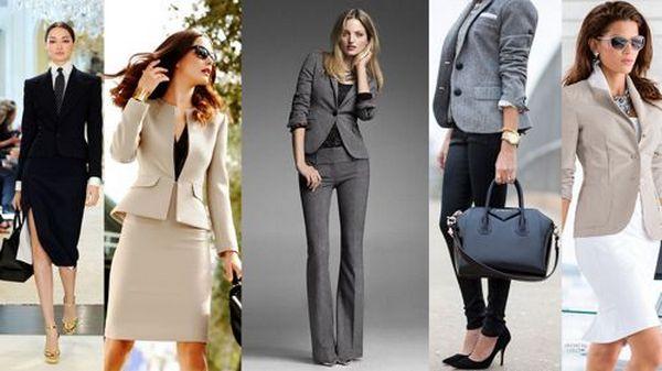 Элементы офисного стиля в сочетании с пиджаком – платья-футляры, юбки-карандаш, костюмные брюки