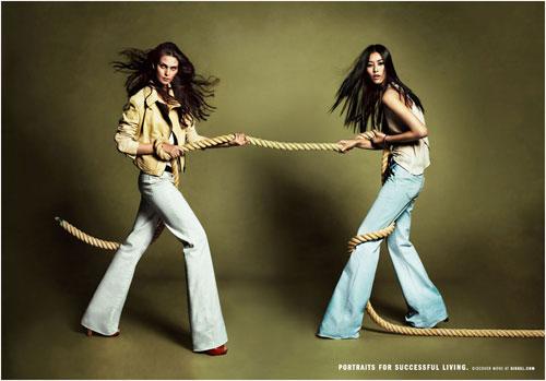Яркие цветовые сочетания с джинсами