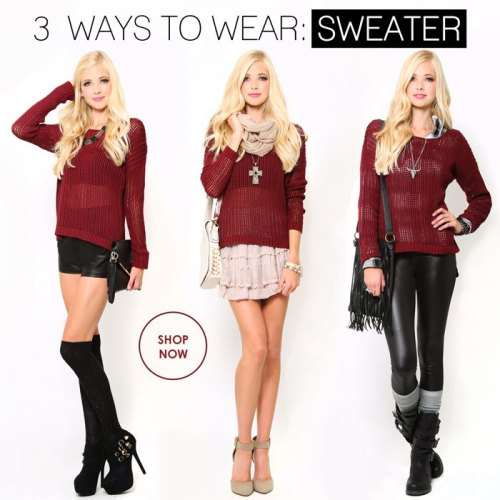 3 Ways to Wear: Sweater
