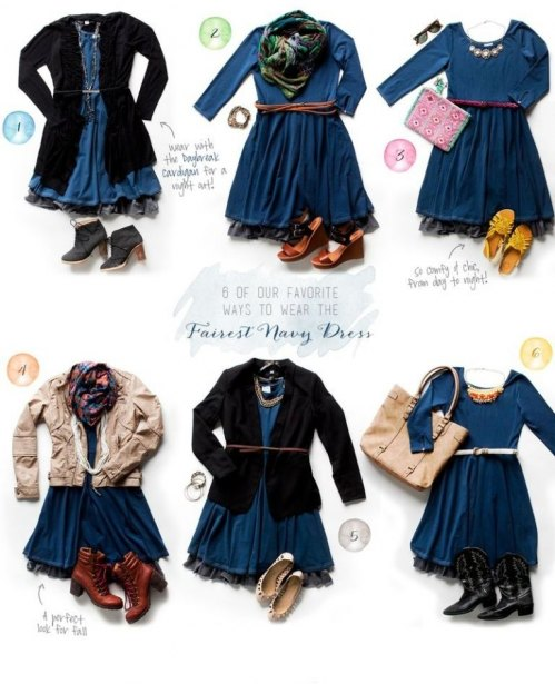Fairest Navy Dress