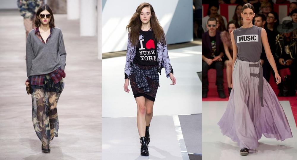 В образах в стиле нео-гранж присутствуют элегантные оттенки и менее эпатажные фасоны одежды