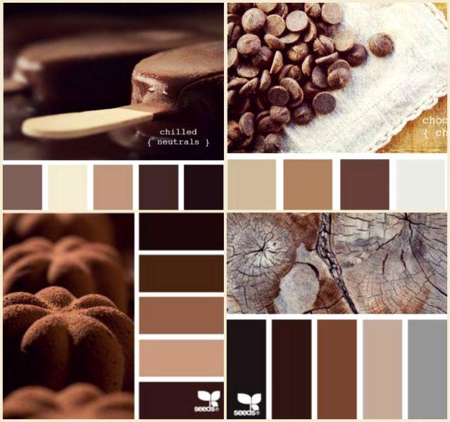 коричневый цвет сочетание с другими цветами они