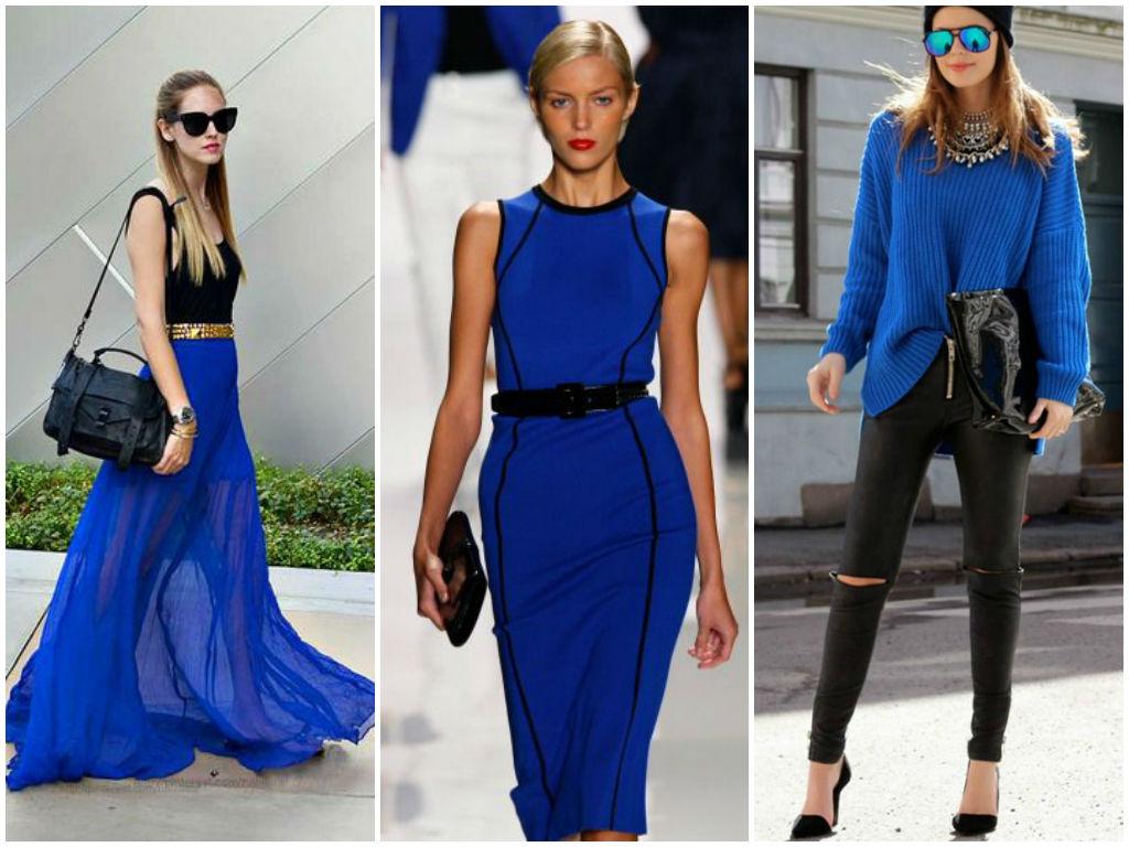 сочетание синего цвета в одежде с другими цветами