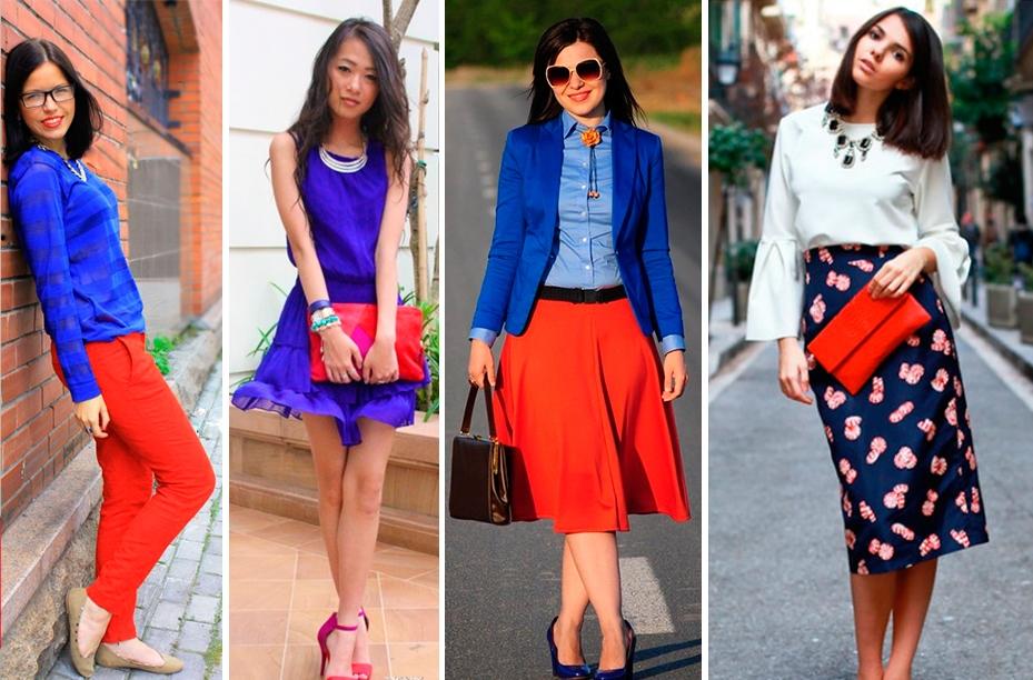 Синий и красный – основные цвета палитры с сильными характерами