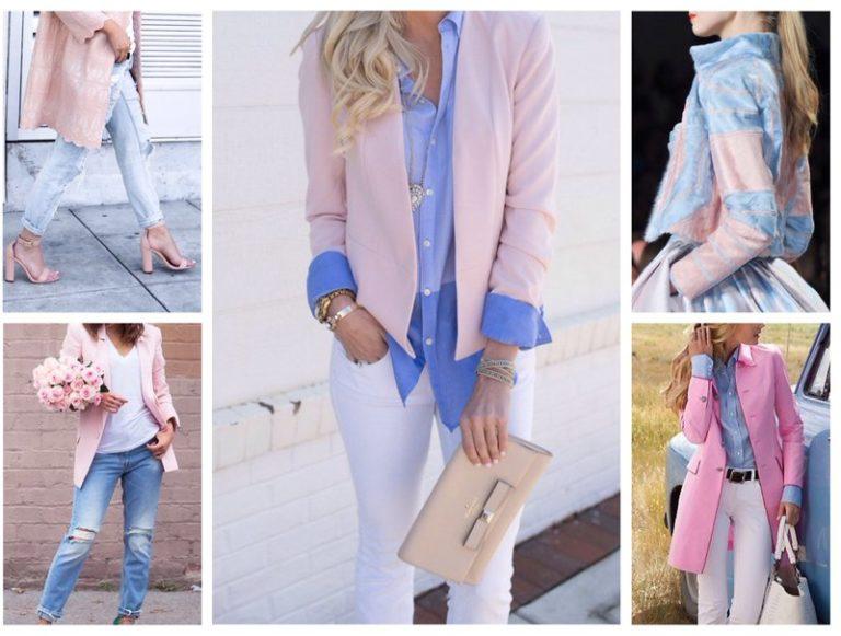 Модные дизайнеры предлагают различные варианты сочетания оттенков синего и розового