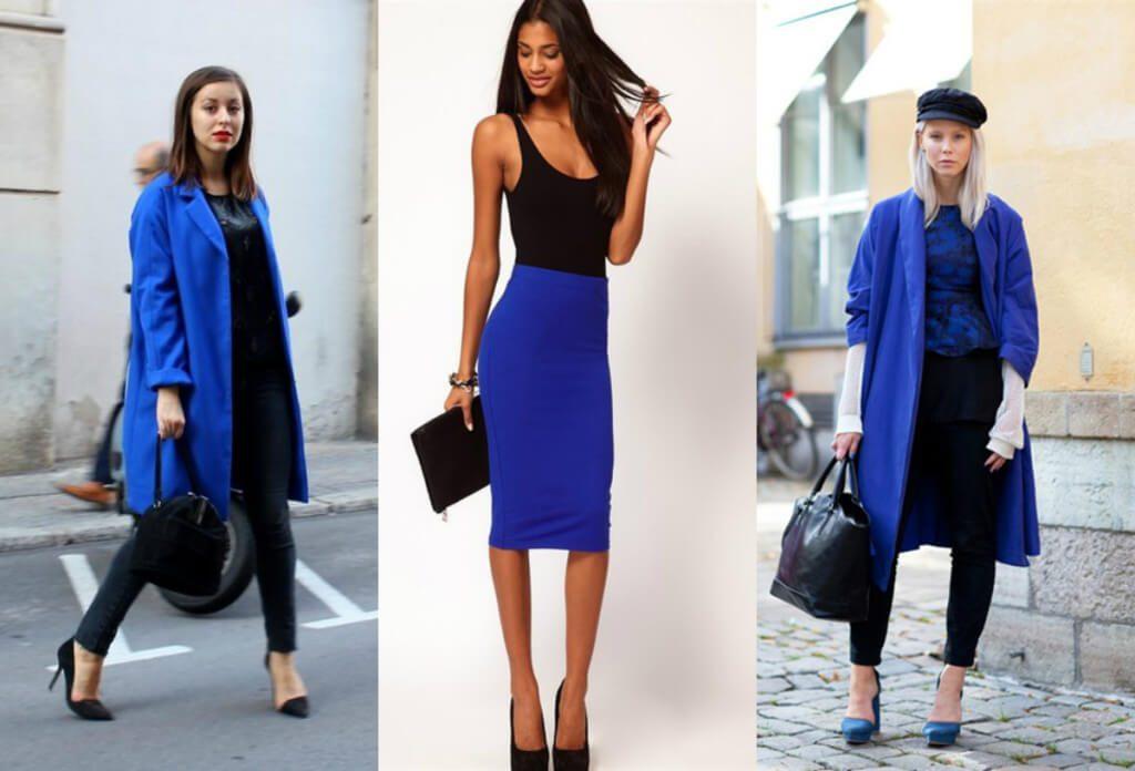 Тандем синего и черного – всегда популярное сочетание в капсуле любого стиля
