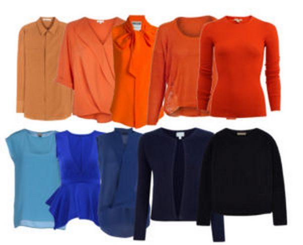 Оранжевый – гармоничный компаньон синего в различных образах