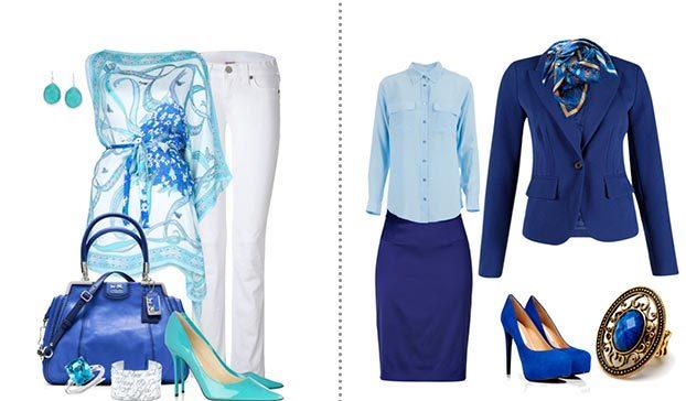 Голубой и синий – наиболее гармоничное сочетание цветов, продолжающих друг друга