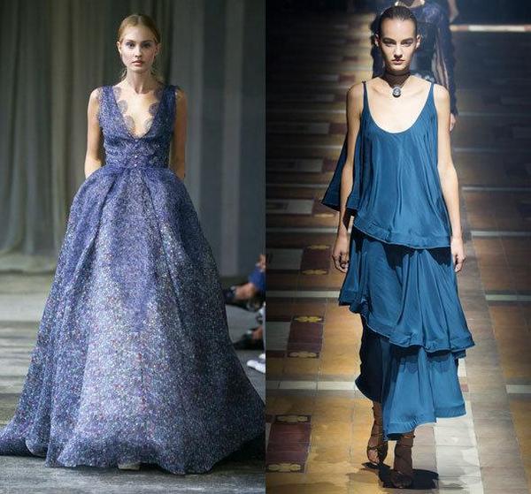 Оттенки синего может подобрать для себя женщина любого цветотипа