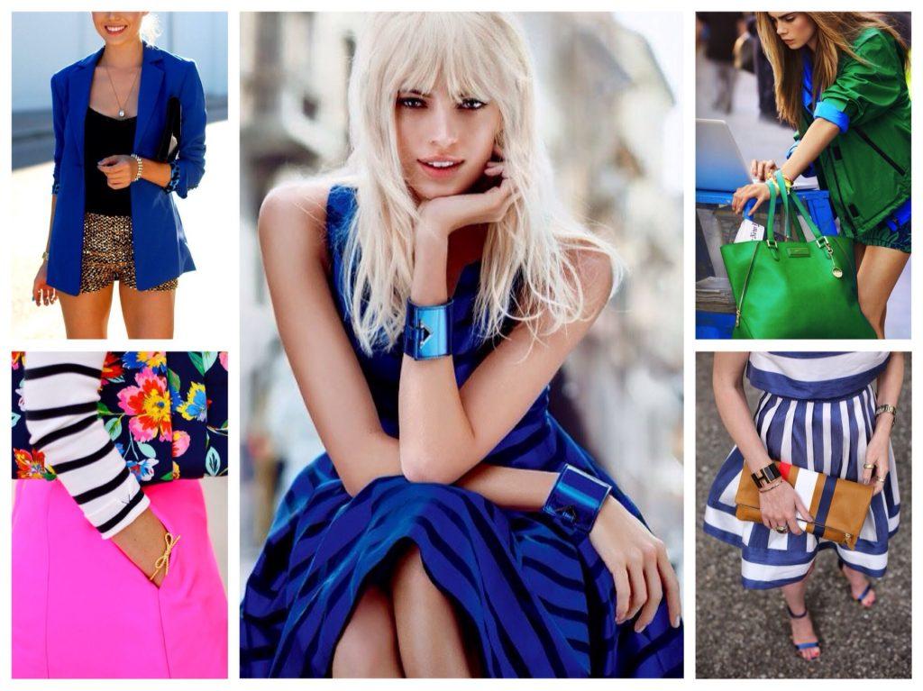 Бледнокожим блондинкам подойдут как светлые, так и насыщенные оттенки синего