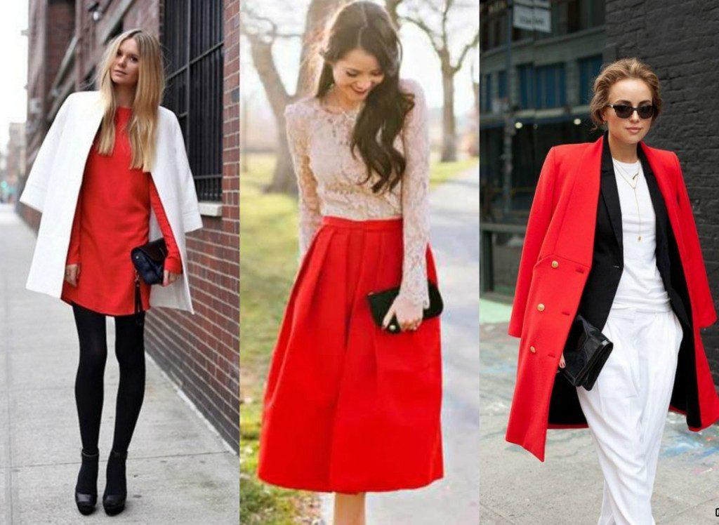 Красный цвет является ярким штрихом любого образа.