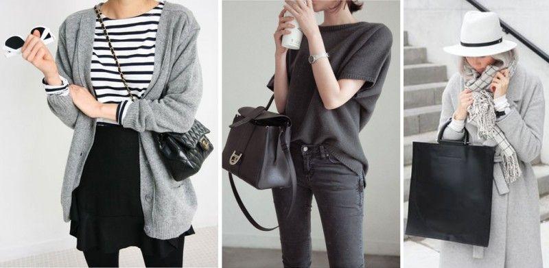 Серый смотрится очень стильно.