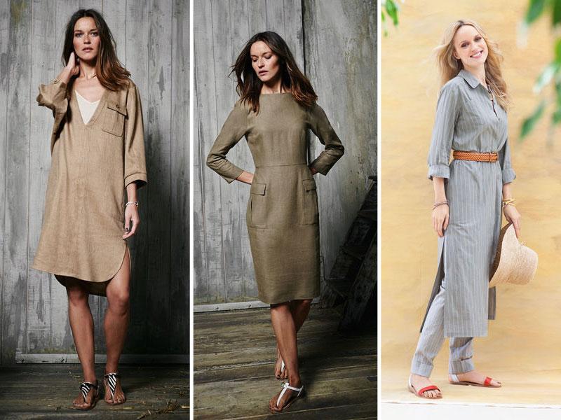 В платьях из натуральных тканей очень комфортно в летний зной.