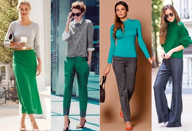 Сочный зеленый и бирюзовый цвет украшают девушек-весен.