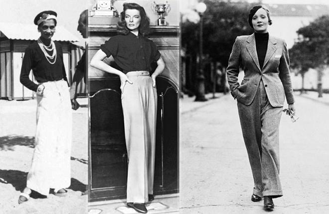 Мода на женские брюки началась с «парусных штанов» от Коко Шанель.