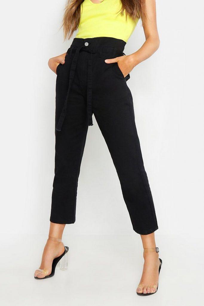 Штаны с высокой талией незаменимы для миниатюрных девушек.