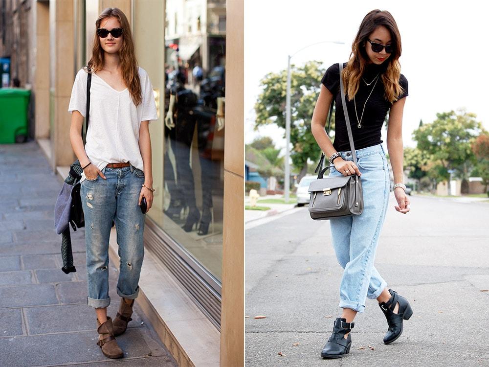 Любите кэжуал? Ботинки, джинсы и футболка — все, что вам нужно.