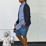 51193669 Rapper Pharrell Williams goes shopping at Chanel and poses for pictures with fans on his way back to his car on August 29, 2013 in Beverly Hills, California. FameFlynet, Inc - Beverly Hills, CA, USA - +1 (818) 307-4813