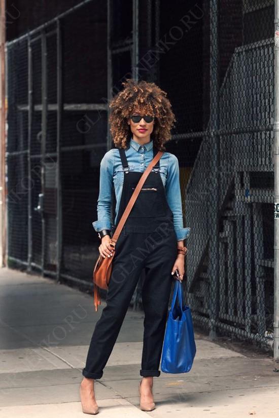пример образа с джинсовой рубашкой