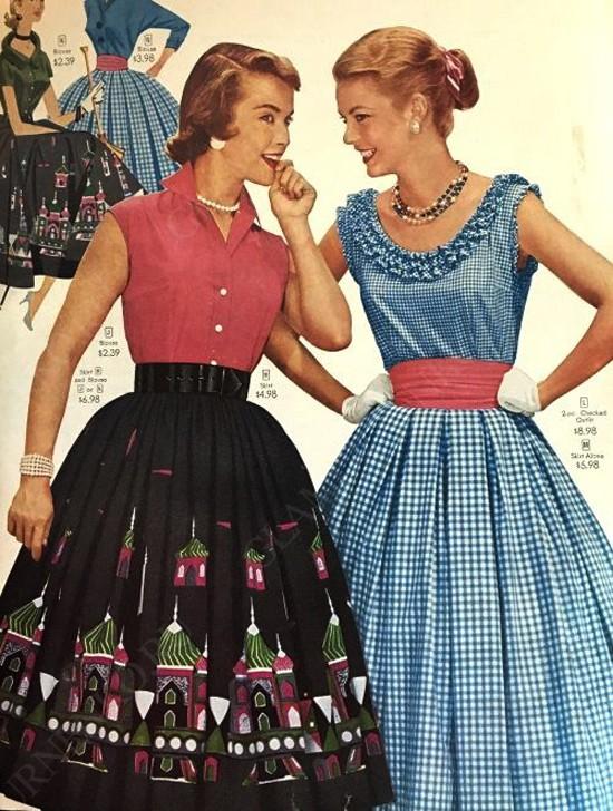 пример юбки-солнце в 60-х