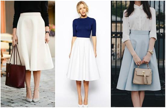 пример юбки-солнце ниже колена