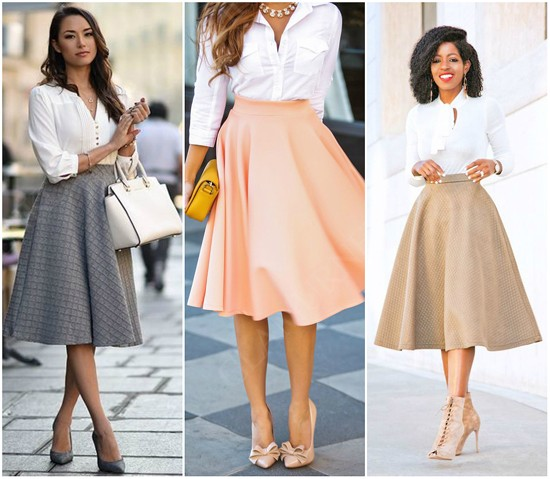 пример юбки-солнце с рубашкой