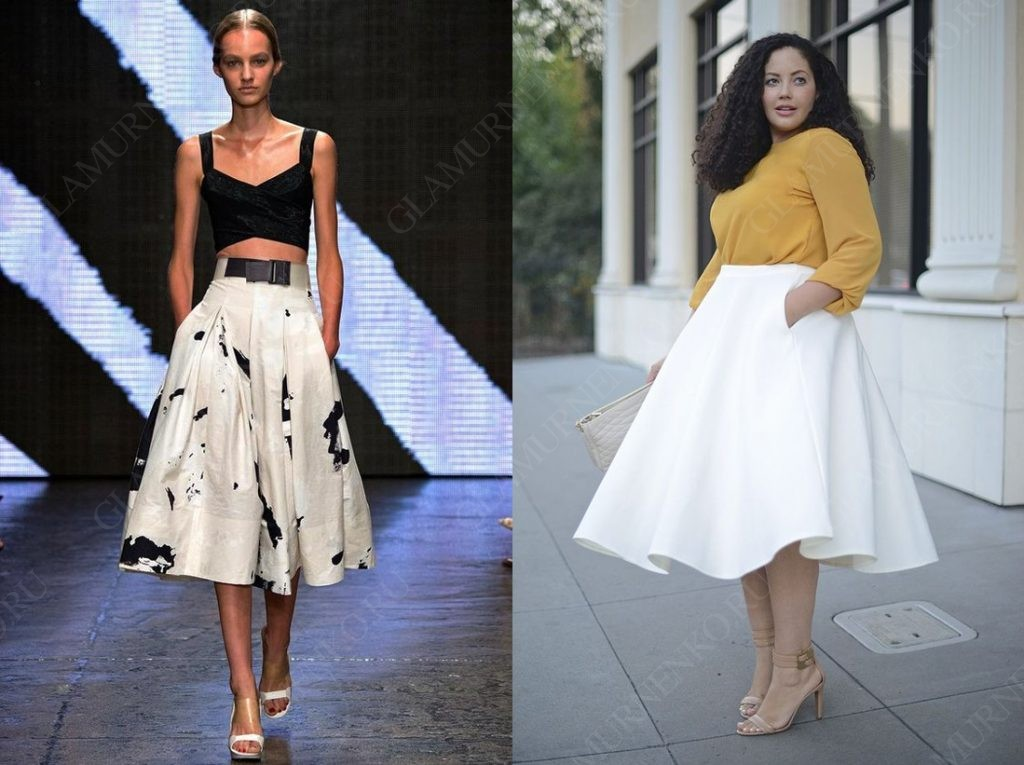 пример юбки-солнце миди