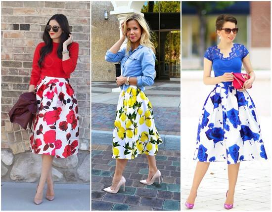 пример юбки-солнце с принтом