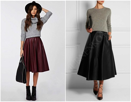 пример юбки-солнце с свитером