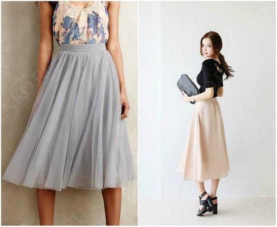 пример сочетания цветов юбки-солнце