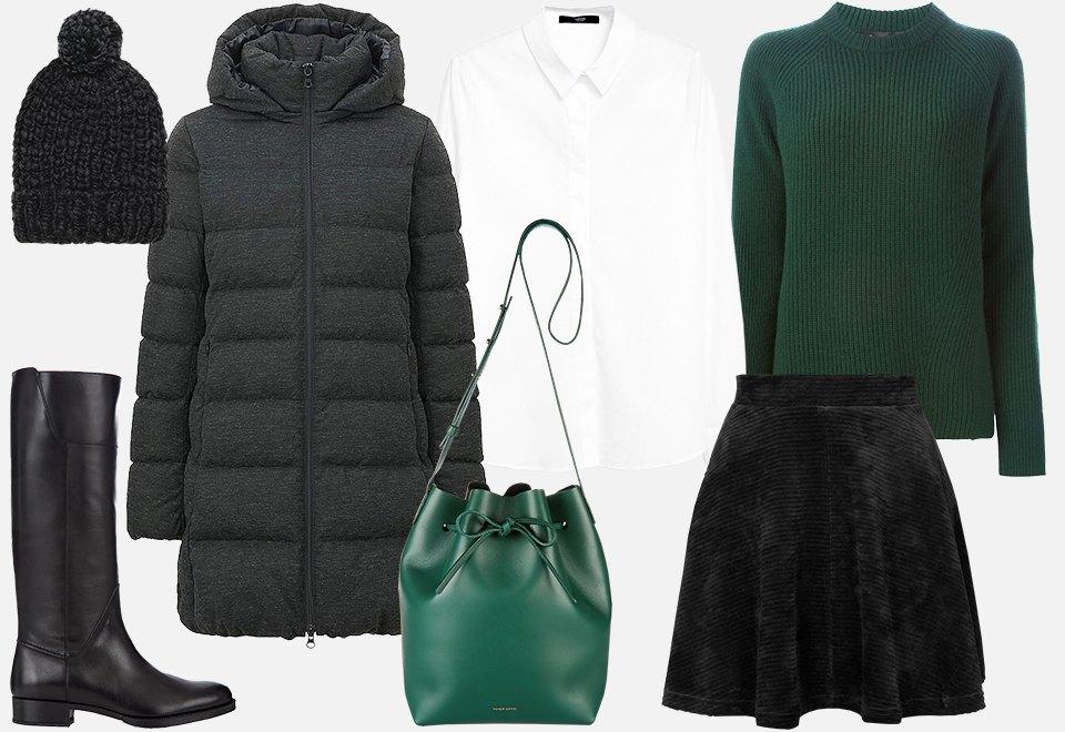 Шапки крупной вязки – отличное дополнение к длинному пуховику, высоким сапогам и лаконичной сумочке