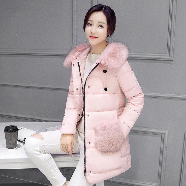 Пуховики королевского розового оттенка – украшение нетривиального элегантного аутфита