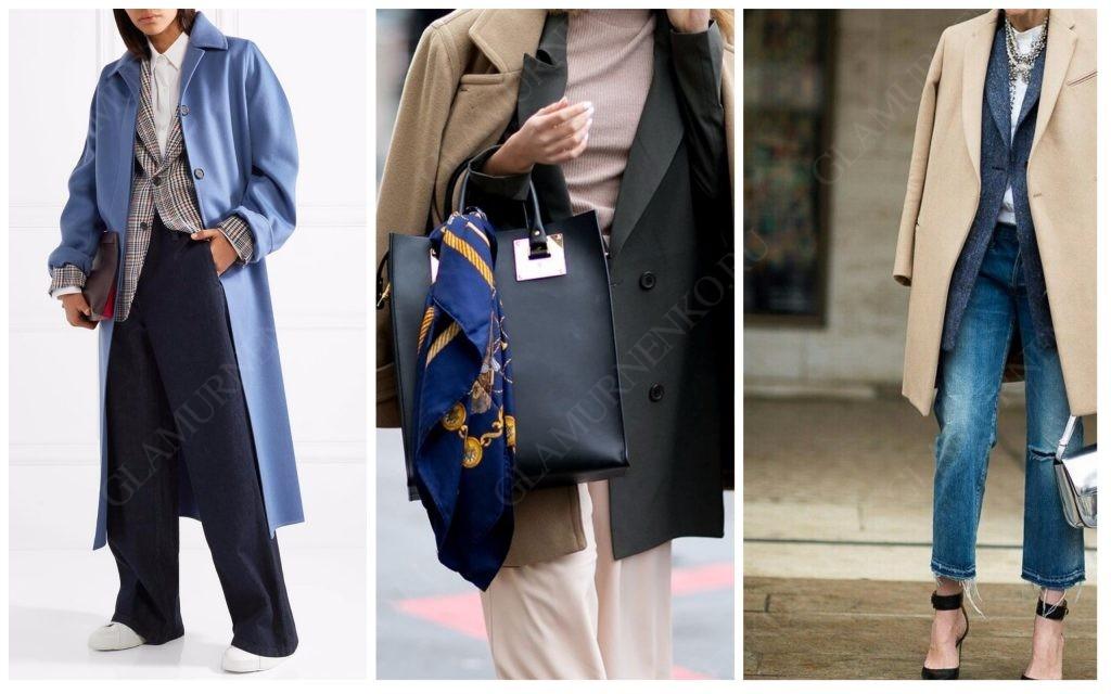 Вариант сочетания элегантного жакета и пальто