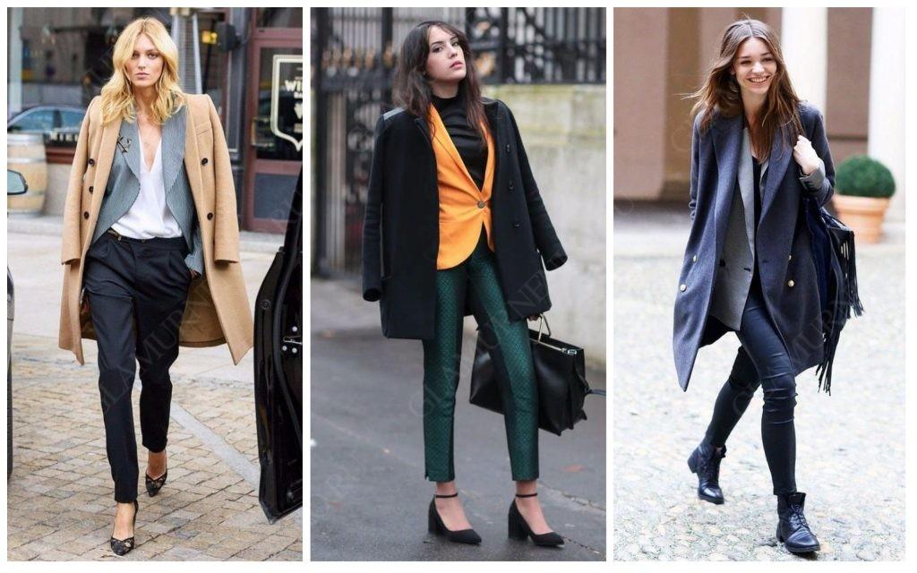 Девушки одетые в жакет и пальто