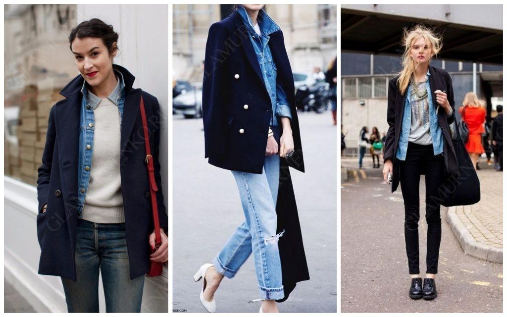Еще варианты джинсовой куртки под пальто
