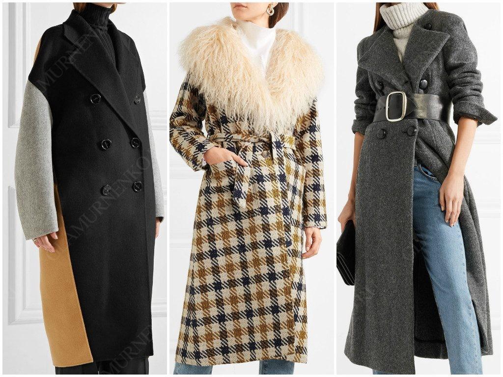 Варианты пальто из теплых материалов: кашемир, твид, шерсть