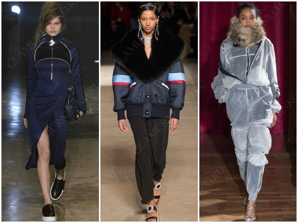 Спортивная одежда в сезоне осень-зима 2017-2018 от Versus, Miu Miu, Y/Project